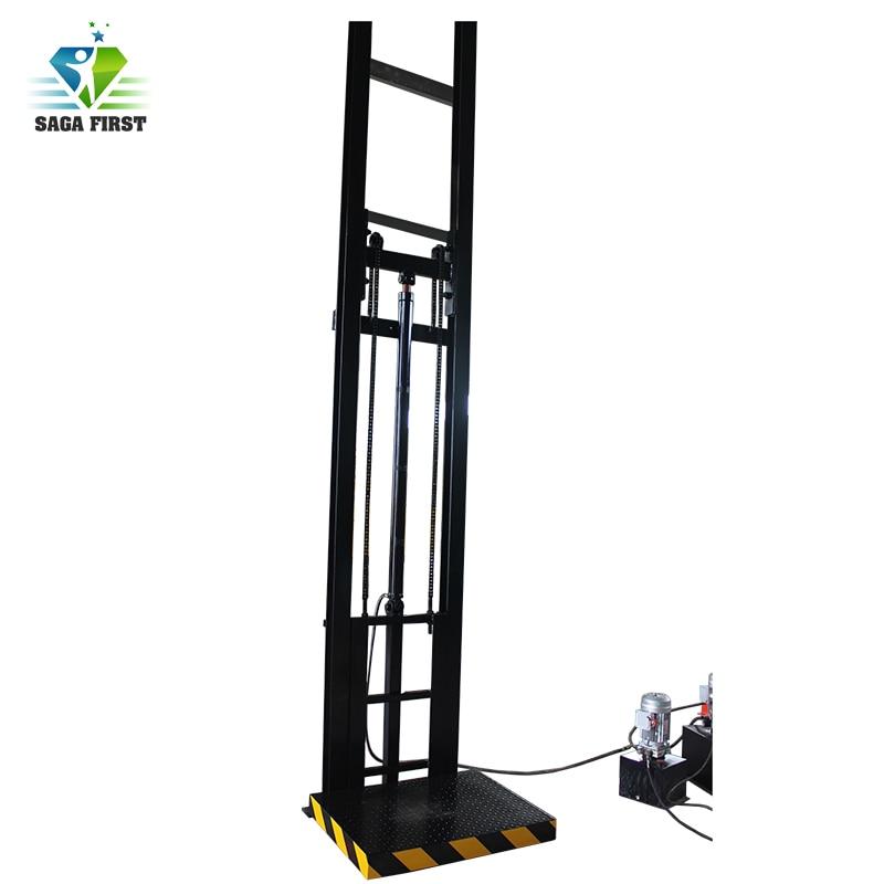 3m To 10m Vertical Floor Cargo Lift Platform Warehouse Heavy Weight Cargo Lift Through Floors