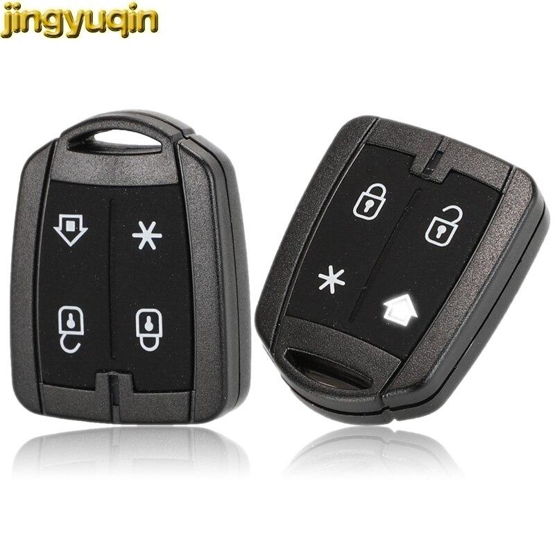 Jingyuqin дистанционный ключ для автомобиля в виде ракушки для позитронная сигнализация Системы брелок для ключей Замена авто-Стайлинг 4 кнопки...