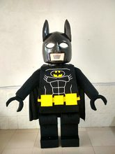 Cartoon robot Lego Batman mascot costume Fancy Dress party Character Cosplay Costume Halloween party costumes Carniva(China)