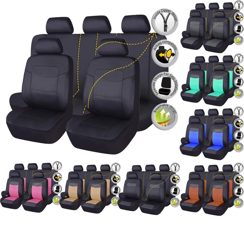 Housse de siège auto en cuir synthétique polyuréthane de haute qualité universelle 8 couleurs housses de siège pour Toyota Kalina Granta Priora Renault Logan
