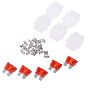 5sets 3A 5A 7.5A 10A Auto Standard Middle Fuse Holder + Car Boat Truck Blade Fuse 7*6*3 image