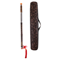Chinese Black Bamboo Flute Bawu Concert Music Instruments for Beginners Gift