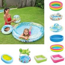 цена на Children Inflatable Swimming Pool Baby Play Pool Kids Toy Paddling Play Ocean Ball Pool Newborn Bathtub Swim Tubs Indoor Outdoor