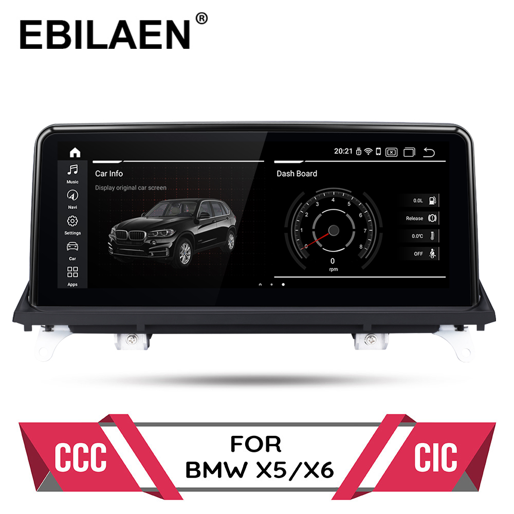Android 10.0 car dvd player for <font><b>BMW</b></font> <font><b>X5</b></font> <font><b>E70</b></font>/X6 E71 (2007-2013) CCC/CIC system autoradio gps navigation multimedia head unit PC image