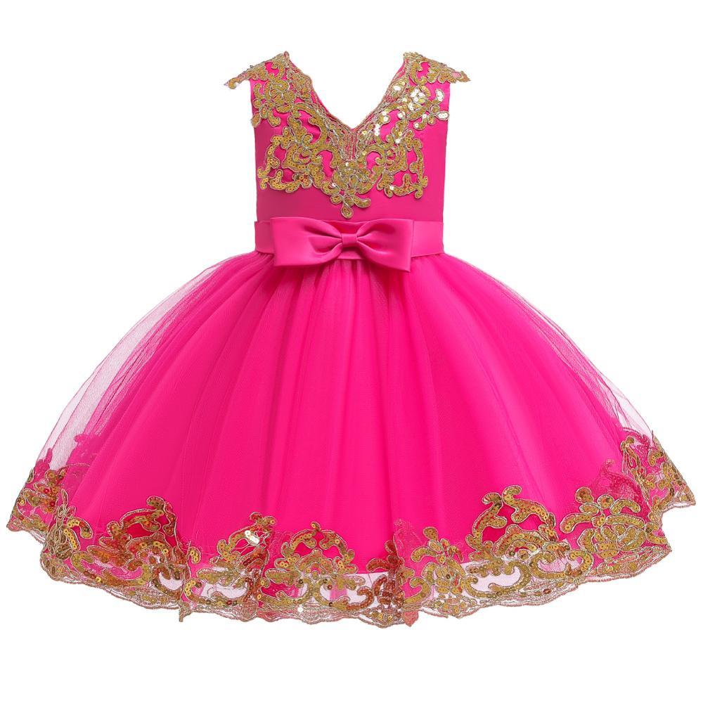 vestido da menina de flor para criancas 01