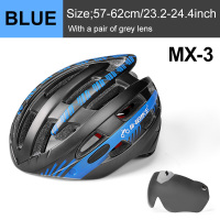 Blue 1 Lens-INBIKE Cycling Helmet with Goggles Ultralight MTB Bike Helmet Men Women Mountain Road casco Sport Specialiced Bicycle Helmets