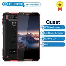 Original Cubot Quest IP68 étanche à la poussière téléphone portable MT6762 Octa Core android 9.0 4GB RAM 64GB ROM NFC Smartphone 4000mAh