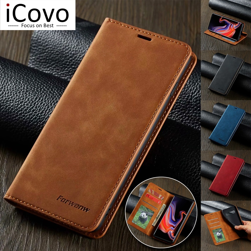 Ultra Slim Leather Case for Samsung A71 A51 A41 A01 S10e Note 20 S21 Ultra S20 S10 Plus Flip Cover A70 A50 A40 A20e A10 S9 S8 S7
