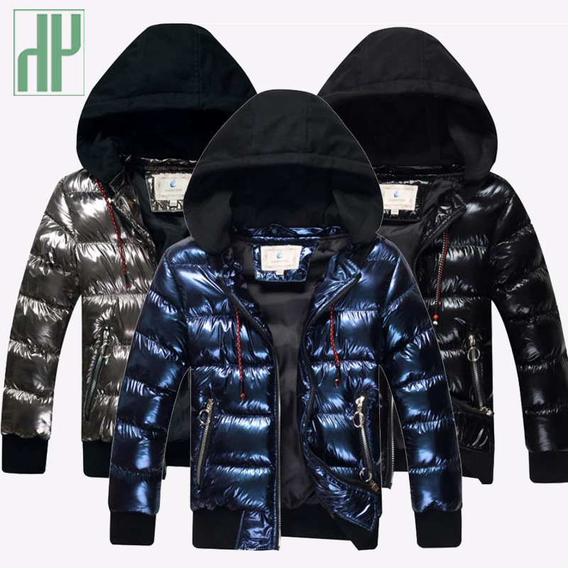 Image 2 - Boys winter jacket Cotton wadded kids snowsuit Jacket Hooded Thicken Warm Jacket Boy children's outerwear coat for teenag-in Down & Parkas from Mother & Kids