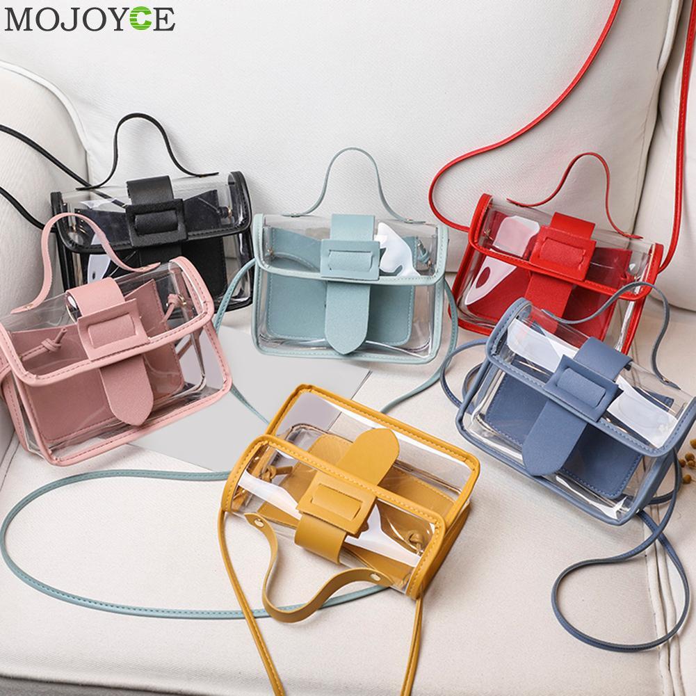 2020 Spring Summer Fashion Women's Transparent Square Sling Bag Cool PVC Shoulder Bag Messenger Bag Mobile Sweet Lady Bag