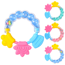 Baby Molar Solid Tooth Soft Silica Gel Rattle Teether Toy Newborn Chews Food Grade Silicone Teethers Infant Training Bed Toy New