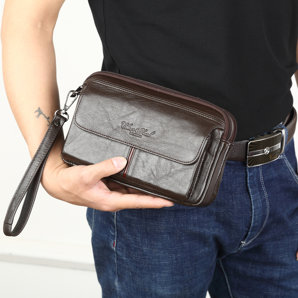 Men's Clutch Bags For Men Genuine Leather Hand Bag Male Long Money Wallets Mobile Phone Pouch Women Party Clutch Coin Purse