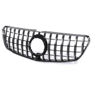 Image 4 - Chrome/Black W447 For GTR Style Grille Grill Car Front Bumper GT Grill Grille For Mercedes For Benz V Class W447 V250 V260 15 18