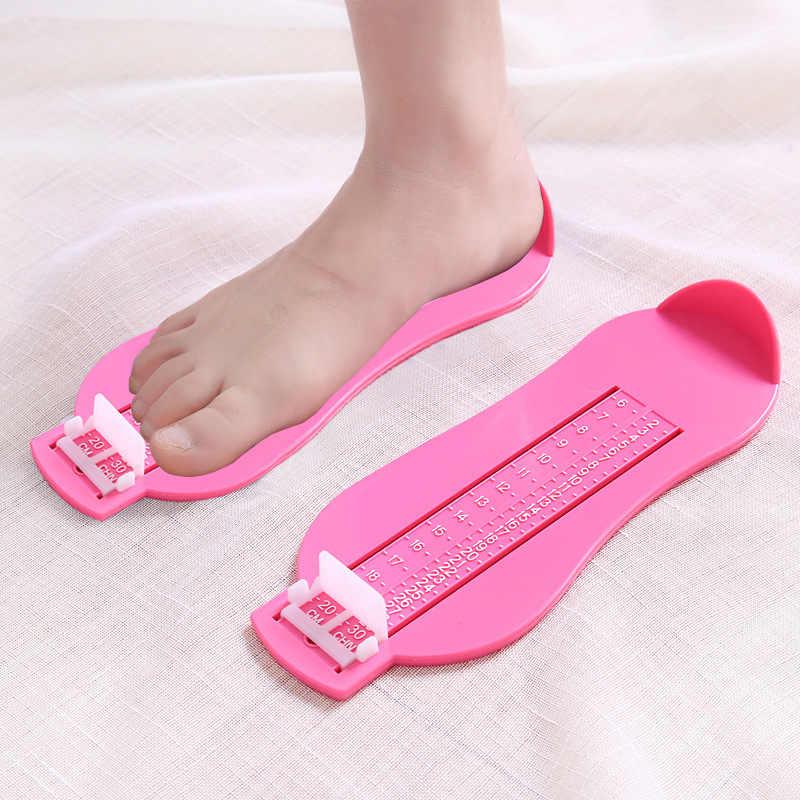 2020 1PC Bayi Profesional Kualitas Tinggi ABS Bahan Ukuran Sepatu Ukuran Alat Ukur dengan Skala Akurat 0-8 tahun Bayi