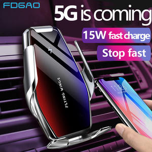 FDGAO Fast-Charging-Phone-Holder Automatic-Clamping Wireless-Charger iPhone 11 Samsung