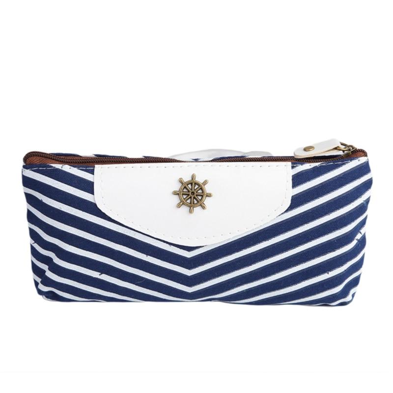 Mini Striped Cosmetic Bag Square Travel Portable Small Handbag Travel Toiletry Storage Bag Beauty Makeup Bag
