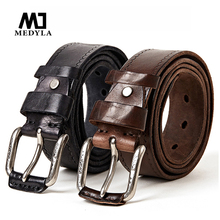 Cow genuine Leather Belts male belt for jeans luxury classic
