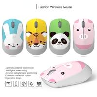2.4G Mouse Wireless ottico carino criceto Cartoon Computer Mouse ergonomico Mini Office Kawaii Mouse per bambino ragazza regalo Tablet PC