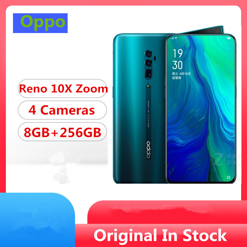 "Newmodel Oppo Reno 10x zoom celular smartphone Snapdragon 855 6.6"" AMOLED 48.0MP 10X Zoom Screen Fingerprint 8GB+256GB VOOC 3.0