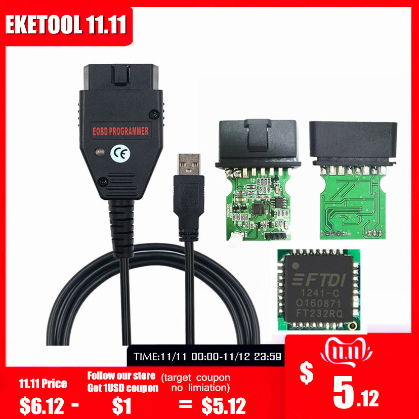 Galletto 1260 FTDI FT232RQ EOBD ECU Programmer Read Write Car ECU Flasher Works For Multi-Car OBDII Diagnostic Multi-Language