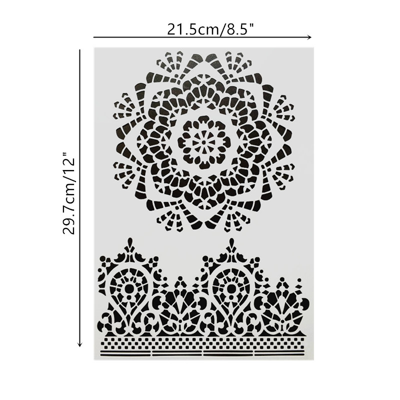 DIY Painting A4 Size Mandala Pattern Stencil Template For Wall Painting Photo Album Decorative Embossing Paper Cards