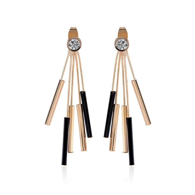 Women Earrings Fashion Luxury Tassel Bride Wedding Gift Jewelry Dangle Long Drop 19QC
