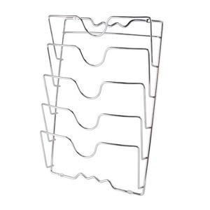 Image 5 - Behogar パンポットカバー保持収納ラックツール家庭の台所スペースを節約パンふたオーガナイザー金属防錆ポットカバーホルダー