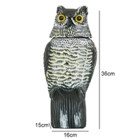 PE Simulation Shaking Head Owl Garden Decoration Protection Repellent Bird Pest Control Scarecrow Garden Yard Decor