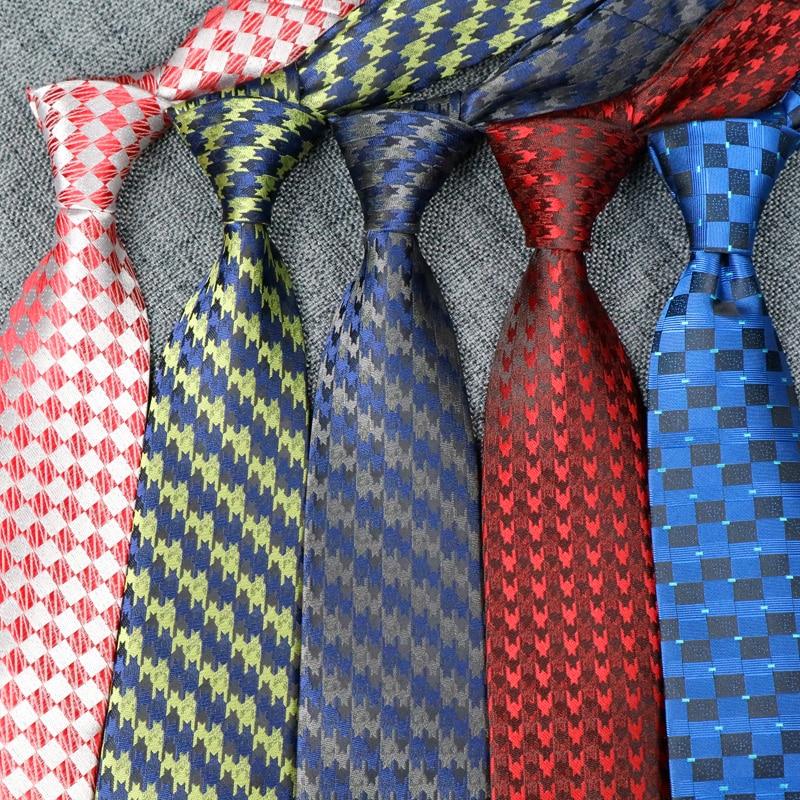 Newest Wedding Mens Ties Plaid Necktie 8CM Paisley Ties For Men Cravate Homme Formal Dress Gravata Corbatas For Groom Tie  Party