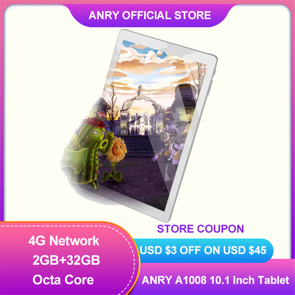 ANRY Android 8.1 Children\'s tablet 4G LTE Phone Call Tablet 2 GB RAM 32GB ROM 10 Inch Wifi BT GPS Tab for Kids Gift