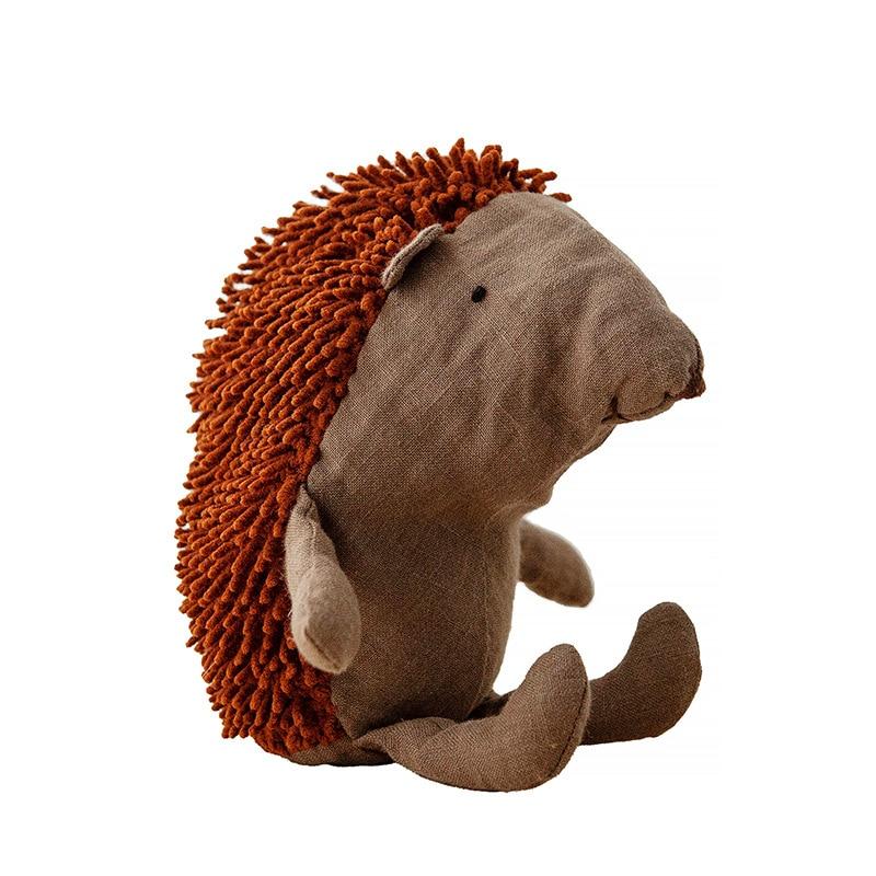 Nordic Lovely Forest Animal Linen Hedgehog Baby Doll Stuffed Toys Kids Boys Girls Comfort Doll