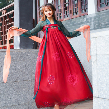 New Hanfu Fancy Dance Costume Festival Outfits Chinese Traditional Ancient Tangsuit For Women Classical Folk Dance Dress DQL1836