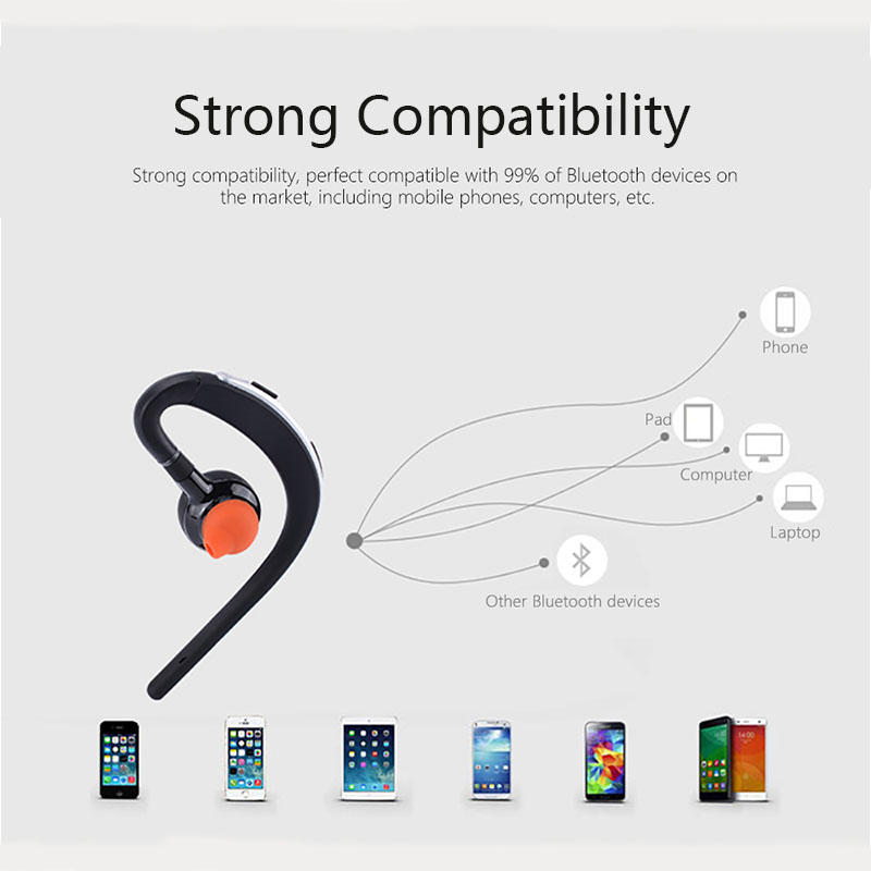 lowest price Heaton Wireless Bluetooth Earphone Headsets Office Bluetooth Headphones with Mic Voice Control Music Earbud Free Shipping
