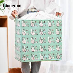 Folding Storage-Organizer Cover-Basket Clothing-Storage Drawstring Dirty Liangduo