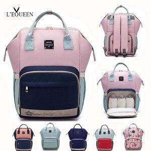 Сумка для подгузников LEQUEEN, для ухода за ребенком, для мам, большая сумка для хранения, для путешествий, водонепроницаемое противообрастающе...