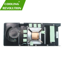 Placa gráfica dissipador de calor ventilador para amd radeon rx 470 rx470 rx 480 rx480 edição pública de alumínio