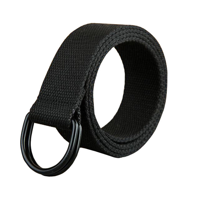 Fashion 110-150CM Long Casual Unisex Men Women Canvas Fabric Belt Strap D Ring Buckle Webbing Waist Band