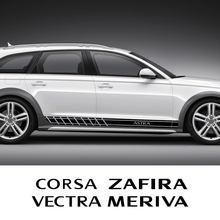 Araba kapı yan etek çizgili çıkartmalar aksesuarları Opel Adam Combo Crossland X Grandland Meriva Tigra Vivaro Zafira Astra OPC