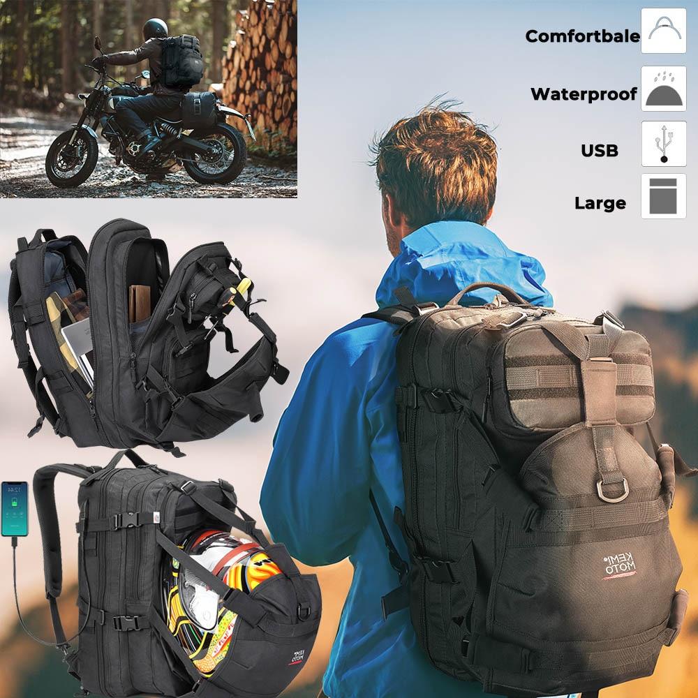 Bolso de la motocicleta mochila de Moto bolsas impermeables de asiento trasero bolsas de casco de sillín de almacenamiento de casco de ciclismo para bolsa de herramientas Yamaha