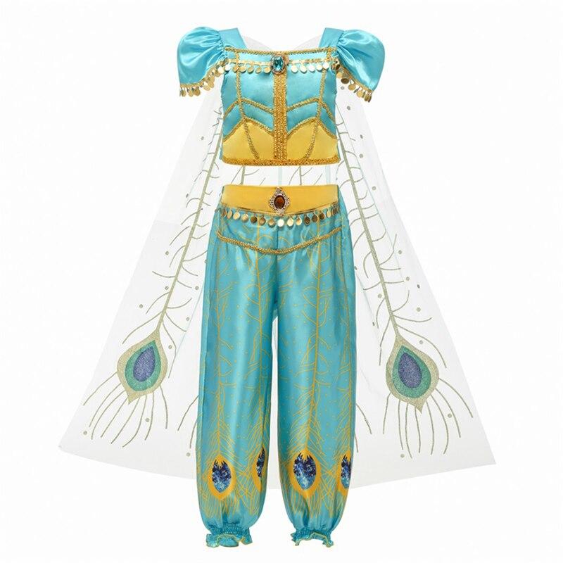 H82469dc9bde84bbcbfdd7481e4773d1eN Aladdin Fairy Princess Costume Rapunzel Princess Dress Halloween Carnival Aurora Cosplay Dress up Kids Baby Anna Elsa Dresses
