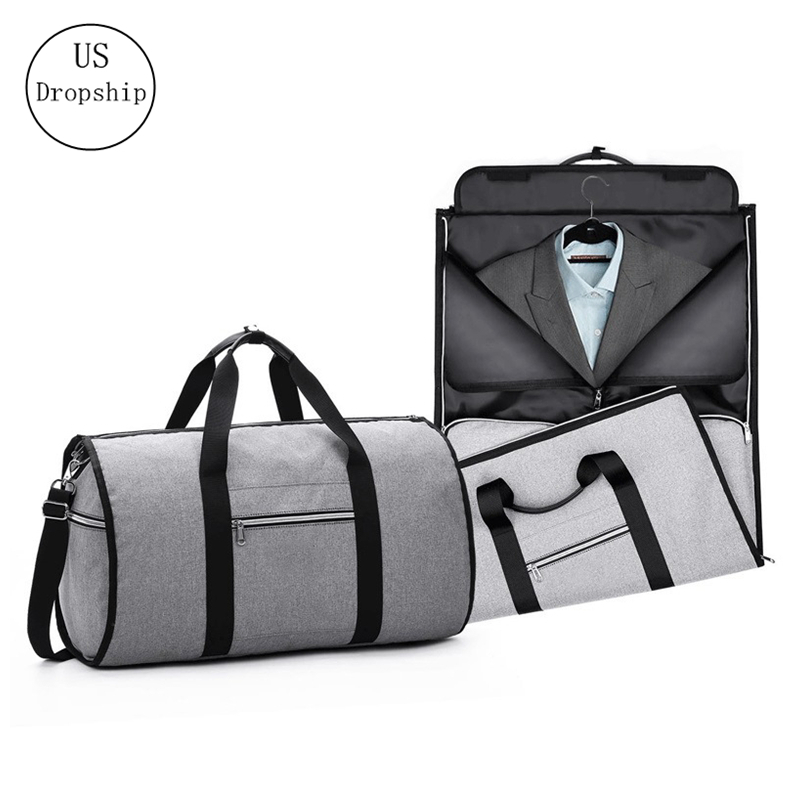 Portable Luxury Suit Storage Bag 2 In 1 Busines Travel Duffel Bag Men's Garment Bag Shoulder Trip Handbag Clothing Luggage Bag