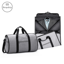 Portable Luxury Suit Storage Bag 2 in 1 Busines Travel Duffel Bag Men's Garment Bag Shoulder Trip Handbag Clothing Luggage Bag недорого