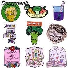 Bg272 dongmanli милые заколки с животными эмалированные Броши