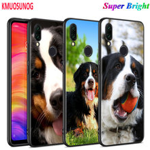 Black Silicone Cover Animal Bernese Mountain Dog for Xiaomi Redmi Note 8 7 6 5 4X 4 K20 Pro 7A 6A S2 5A Plus Phone Case