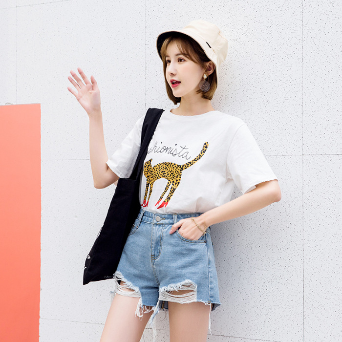 Online Celebrity Jeans Shorts Women's High-waisted Summer 2019 New Style With Holes Outer Wear Pants Smell Hot Pants
