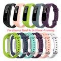 Для Huawei Band 4e 3e Honor Band 4 сменные часы для бега браслет пряжки силиконовый ремешок на запястье Мягкий Спортивный регулируемый