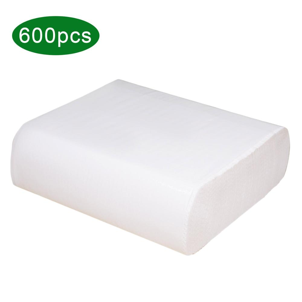 600pcs Disposable Guest Towels White Paper Dinner Napkins Hand Tissues For Bathroom Kitchen Hotel Home Party Supplies
