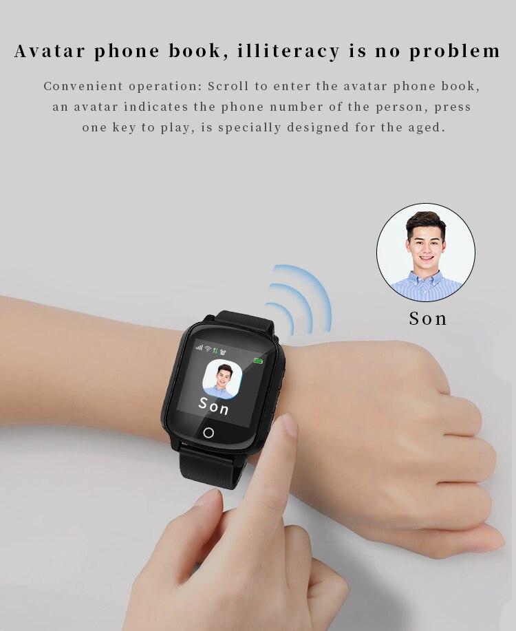 D200 D200SE Смарт часы gps трекер локатор для пожилых женщин мужчин Smartwatch с защитой от падения сердечного ритма кровяное давление SOS