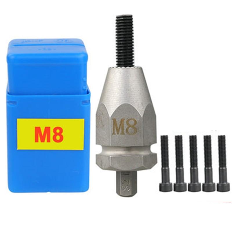 M3 M4 M5 M6 M8 M10 Pneumatic Pull Setter Air Rivets Nut Gun Rivet Nut Head For Pneumatic Riveters With 5pcs Pull Rod