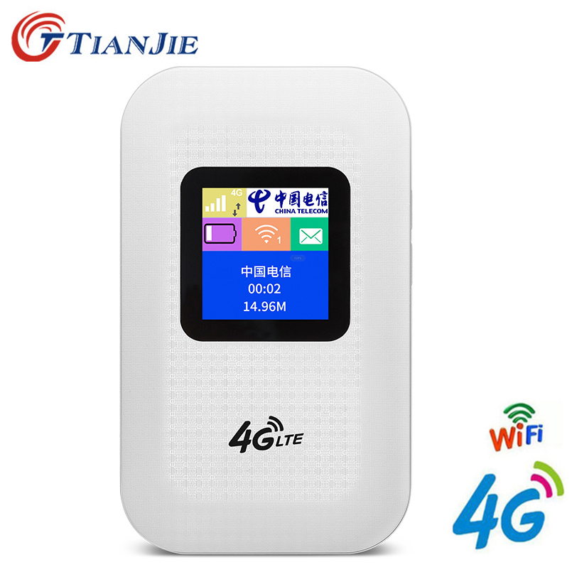 TianJie 4G LTE Wifi Router 150Mbps Mini Mobile Hotspot Portable Car Mifi Modem Ulocked Wireless Dongle 3G 4G Wi-Fi Router